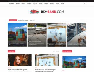 kix-band.com screenshot