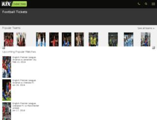 kixfootballtickets.com screenshot