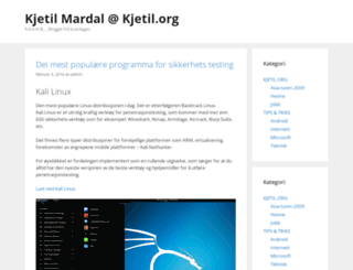 kjetil.org screenshot