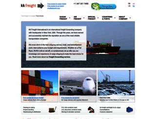 kkfreight.com screenshot