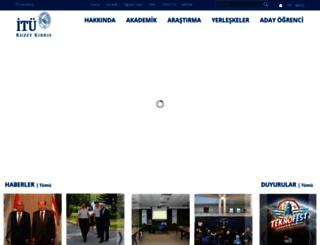 kktc.itu.edu.tr screenshot