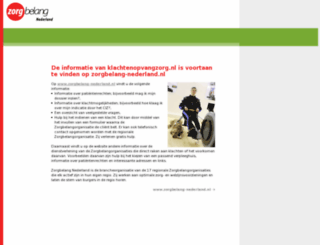 klachtenopvangzorg.nl screenshot