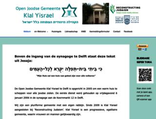 klal-israel.nl screenshot