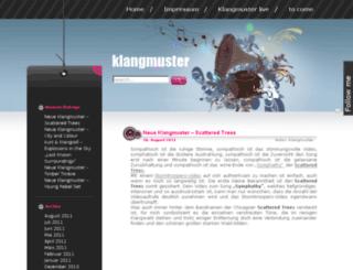 klangmuster.de screenshot