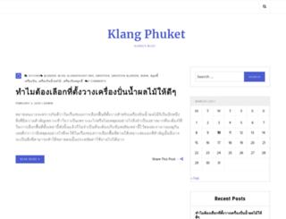 klangphuket.org screenshot