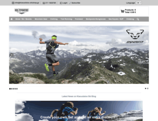 klaoudatos-skishop.gr screenshot