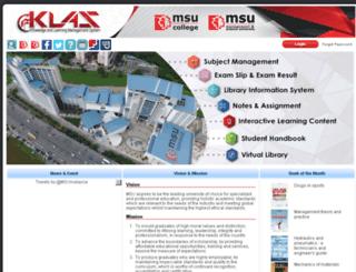 klas.msu.edu.my screenshot