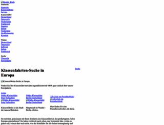 klassenfahrten.net screenshot