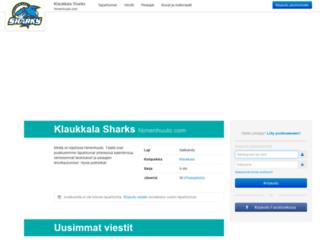 klaukkalasharks.nimenhuuto.com screenshot