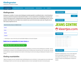 kledingmaten.net screenshot