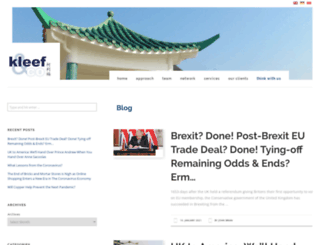 kleef.asia screenshot