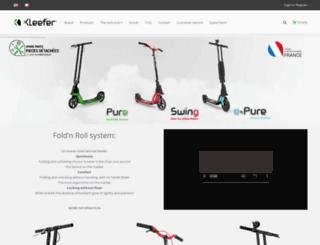 kleefer.com screenshot