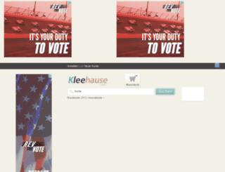 kleehause.com screenshot