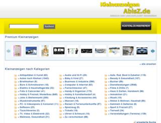 kleinanzeigen-abisz.de screenshot