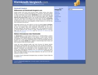 kleinkredit-vergleich.com screenshot