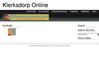 klerksdorphost.co.za screenshot