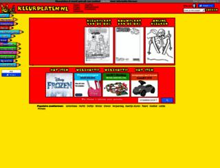 kleurplaten.nl screenshot