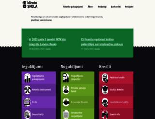 klientuskola.lv screenshot