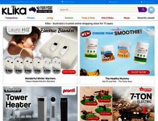klika.com.au screenshot