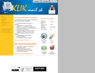 klikmail.sk screenshot
