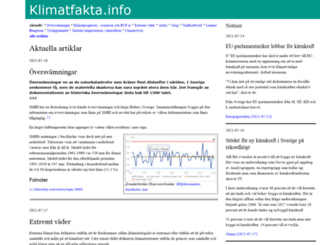 klimatfakta.info screenshot