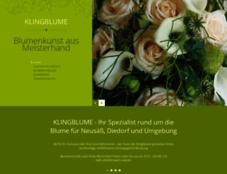klingblume.de screenshot
