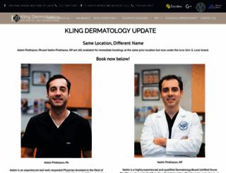 klingdermatology.com screenshot