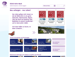 klinik-hohe-mark.com screenshot