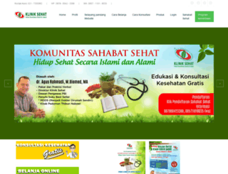 kliniksehat.co.id screenshot