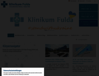 klinikum-fulda.de screenshot