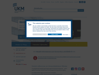 klinikum.uni-muenster.de screenshot