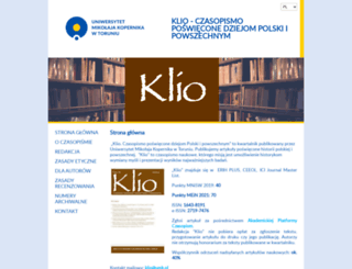 klio.umk.pl screenshot