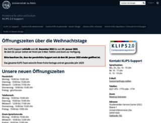 klips2-support.uni-koeln.de screenshot