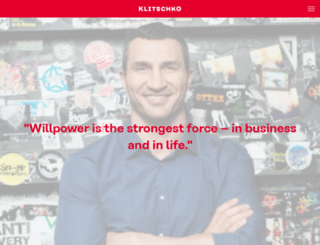 klitschko.com screenshot