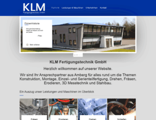 klm-fertigungstechnik.com screenshot