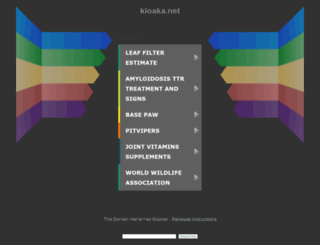 kloaka.net screenshot