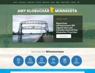 klobuchar.senate.gov screenshot