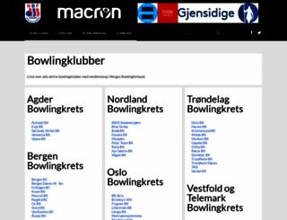 klubber.bowling.no screenshot