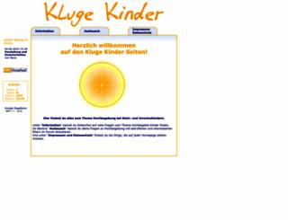 klugekinder.at screenshot