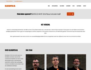 kluisopen.nl screenshot