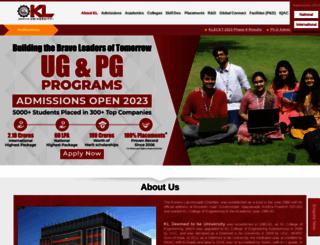 kluniversity.in screenshot