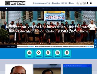 klyuniv.ac.in screenshot