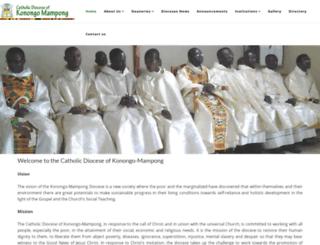 kmdiocese.org screenshot