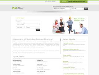 kmdirectory.com.au screenshot