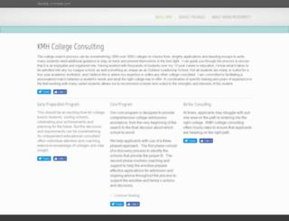 kmhcollegeconsulting.com screenshot