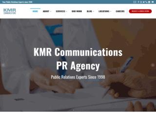 kmrcommunications.com screenshot