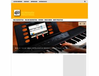 kmu-marketing-blog.de screenshot