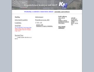kn.vutbr.cz screenshot