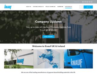 knauf.co.uk screenshot