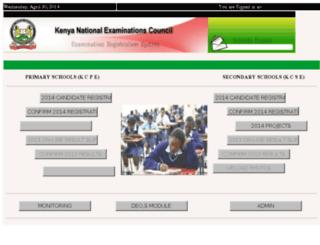 knec-registration.ac.ke screenshot